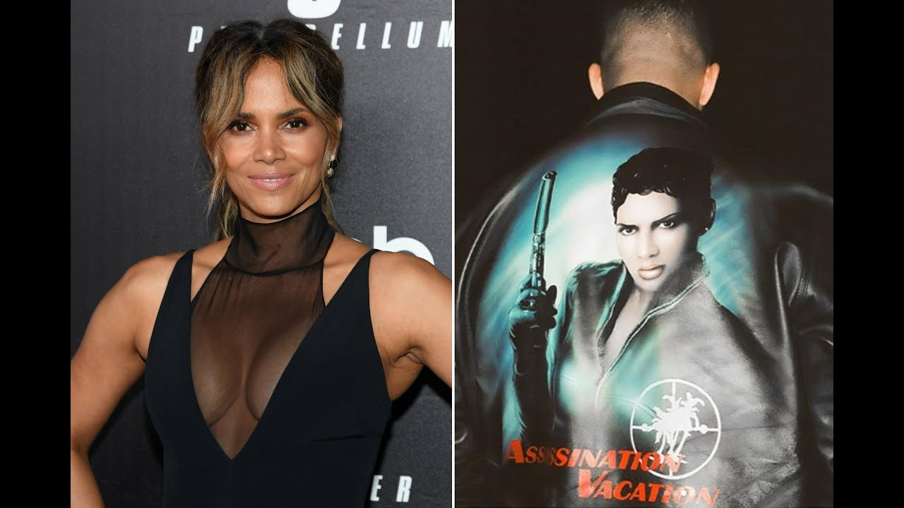 Halle Berry poses in Drake shirt after rapper wears jacket with her image