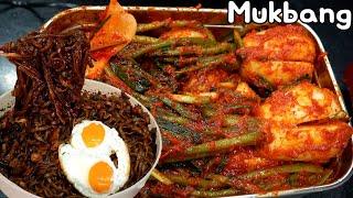 초롱무 총각김치 만들기 😉 삼겹살 짜왕과 먹방 Mukbang