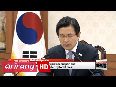 Korea's acting president calls for all-out efforts to contain forest fire