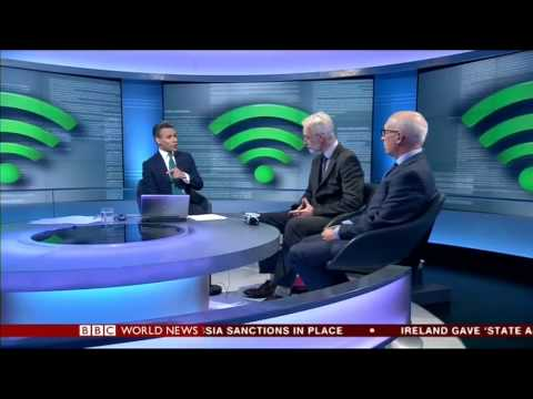 Shoosmiths partner Laurence Kaye being interviewed on BBC World News
