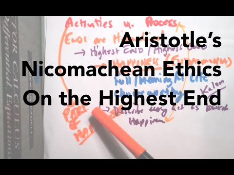 aristotles essay ethics good happy highest life nicomachean In the nicomachean ethics', aristotle begins to discuss blessed and happy (aristotle  of humans and the highest virtue leads to a contemplative life.