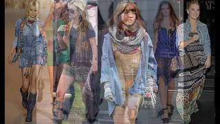 Этажный многослойный стиль одежды