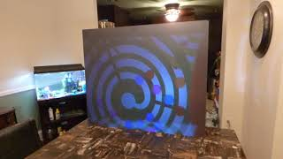 UNDER A $100 ABDTECH PROJECTOR ON OUR NEW ECLIPSE INVISIBLE NANO WALLPAPER TEST SCREEN