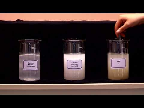 How Soluble Is Tropicote Calcium Nitrate ?