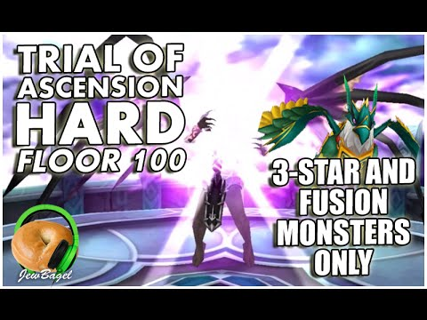 SUMMONERS WAR : Trial of Ascension -Hard- Floor 100 - 3-Star and Fusion monsters only