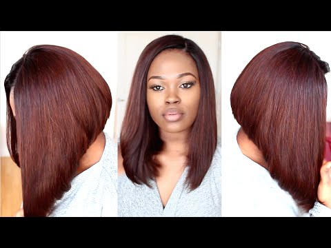 Chestnut Brown Long Bob Hairstyle Tutorial Youtube