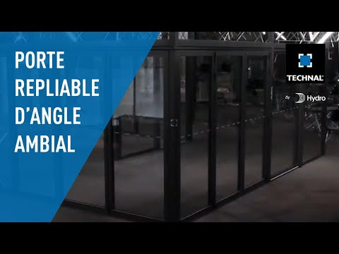 AMBIAL D'ANGLE - La porte repliable TECHNAL