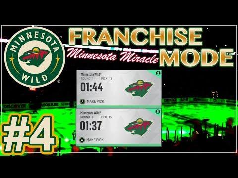 "NHL 18 Minnesota Wild Franchise Mode #4 ""FIRST DRAFT"""
