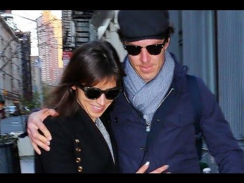 Sophie Hunter and Benedict Cumberbatch in New York, 3 April 2016