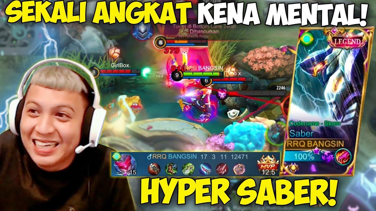 Download HYPER SABER RRQ XINNN SEKALI ANGKAT KENA MENTAL !! MUSUH PICK HERO KERAS TETAP HAJAR !!