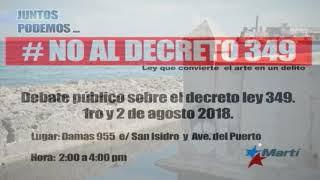 Artistas desafían decreto oficial en debate público en Cuba