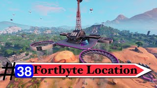 Fortnite Fortbyte #38 - Accessible with the Vendetta skin outfit at Northern most sky platform