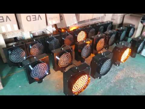 Top selling 300mm solar powered yellow LED flashing traffic warning light