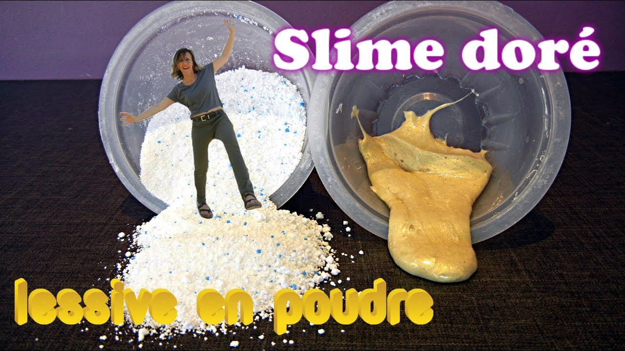 comment faire du slime dor i avec de la lessive en poudre youtube. Black Bedroom Furniture Sets. Home Design Ideas