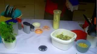 sałatka ze świeżego ogórka cześć 2 / fresh cucumber salad with chicken vol.2