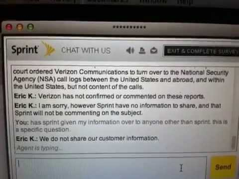 Sprint Denies Sharing With NSA Live On Web Chat