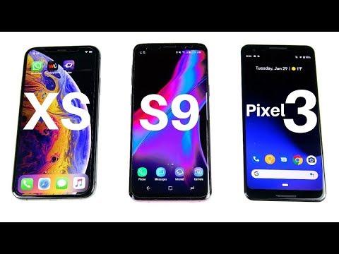 iPhone XS vs Galaxy S9 vs Pixel 3