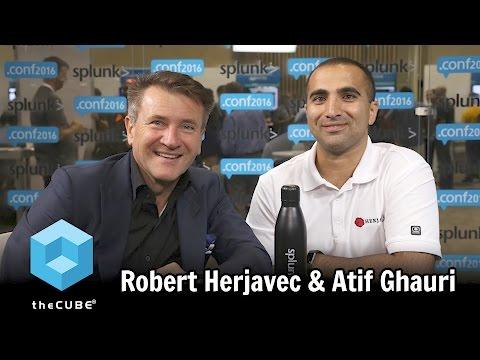 Robert Herjavec & Atif Ghauri, Herjavec Group - Splunk .conf2016 - #splunkconf16 - #theCUBE
