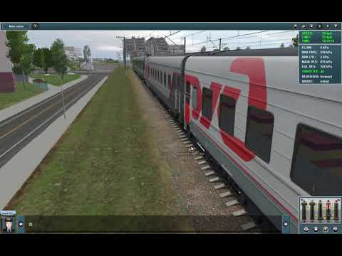 Поезд по Павелецкому направлению от Москвы до Ожерелья.