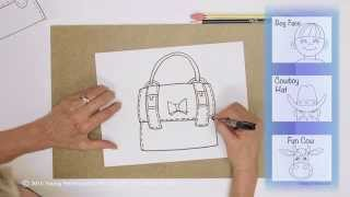 Teaching Kids How to Draw: How to Draw a Cute Purse
