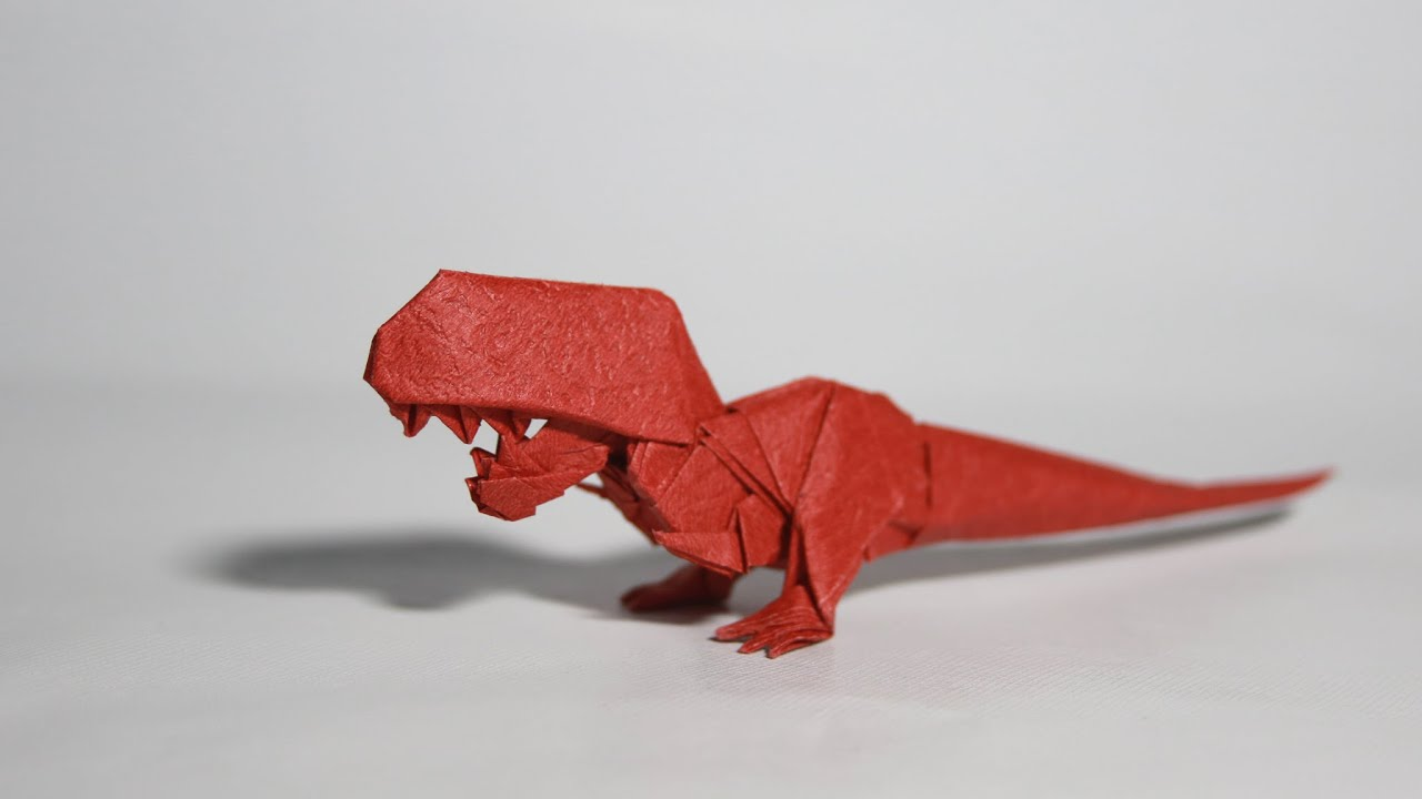 Origami T-rex tutorial (Henry Phạm) - YouTube - photo#44