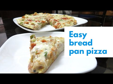 Ramadan Special 2 • Simple Bread Pizza On Pan • White Saurce Chicken Bread Pizza