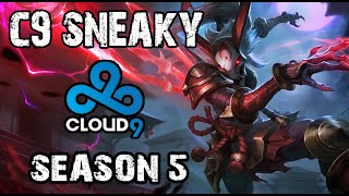 C9 Sneaky Kalista vs Caitlyn ADC Ranked Challenger NA