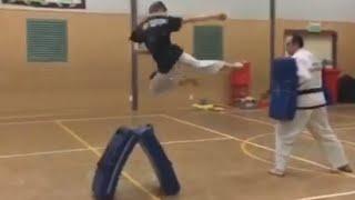 Flying Side Kick to bag