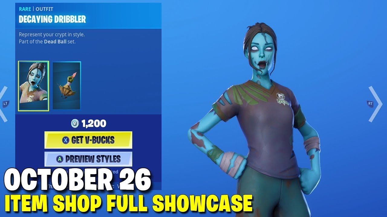 2020 Fortnite Halloween Skins Fortnite Item Shop   *NEW* Halloween Soccer Skins!   October 26