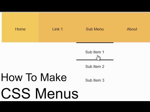 How To Create A CSS Drop Down Menu - Easy Step-By-Step Dreamweaver Tutorial