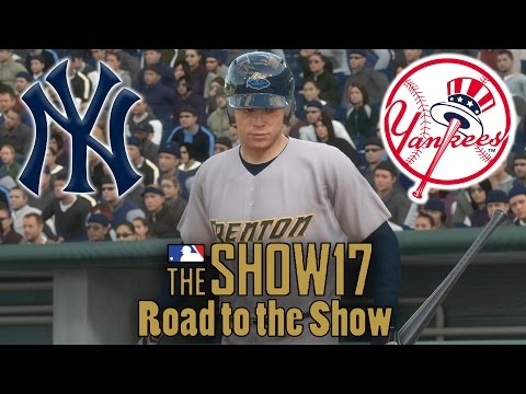 MLB 17 The Show Road To The Show Part 2 - Drafted By The Yankees! Minor League Debut!