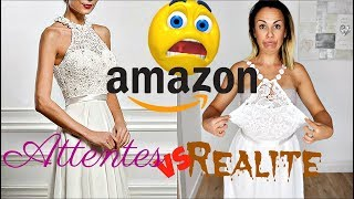 ATTENTE VS REALITE Amazon : Robes de mariée à - de 30€