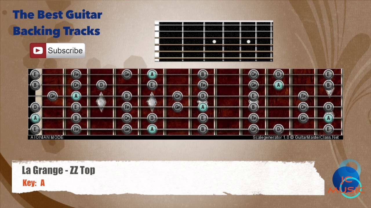 La grange zz top guitar backing track with scale and - How to play la grange on acoustic guitar ...
