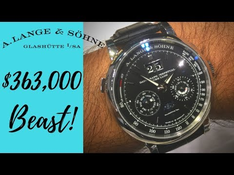 A. Lange & Söhne Datograph Perpetual Tourbillion Expensive German Made High Horology Watch