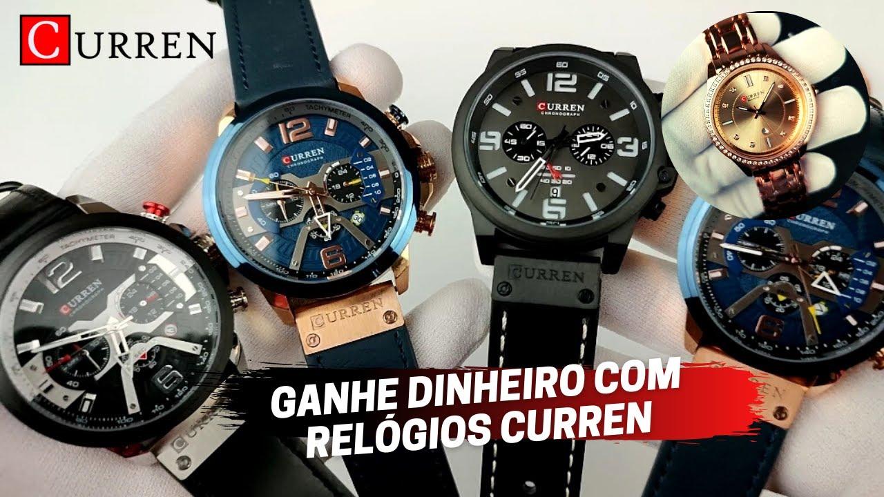 GANHE DINHEIRO COM OS RELÓGIOS CURREN  importados da China