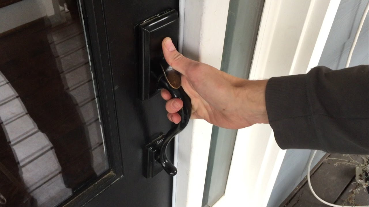 Replacing Door Knob & Handle Assembly (Kwikset Handleset) - YouTube