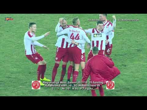 RL West Saison 2017 18 SP25 Rot Weiss Essen vs  SG Wattenscheid 09 mit PK 9 3 2018