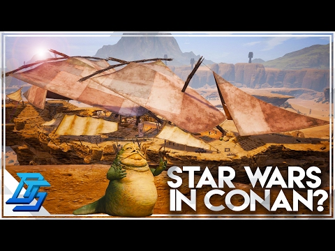 Conan Exiles - Part 9 -Star Wars Easter Egg , New Base , Learning a Second Religion ! (Early Access)