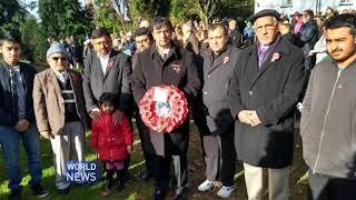 UK Ahmadi Muslims mark Remembrance Day 2017