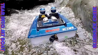 RC CWR NQD Tear Into Jet Boat in BlueRock Creek