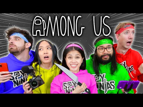 PLAYING AMONG US with SPY NINJAS New Roles Mod - Among Us in HD cuz It's in Real Life - Vy Qwaint