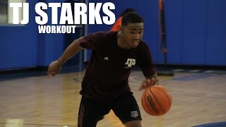 Texas A&M commit TJ Starks workout w/ Full Throttle Basketball