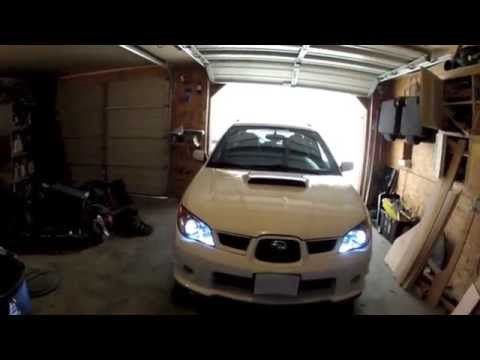 Hidextra Vs Stock Headlights Review 06 Wrx Limited Youtube