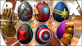 HOW TO WIN ALL the AVENGERS EGGS and the THANOS MANOPLA 🌟-(Roblox Egg Hunt event 2019)
