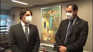 Presidente Emir Cadar Filho reune com Presidente do TJMG, desembargador Gilson Soares Lemes