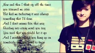 Christina Grimmie - Somebody That I Used To Know (with lyrics on screen) + Ringtone