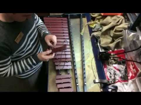 Time lapse xylophone bar replacement