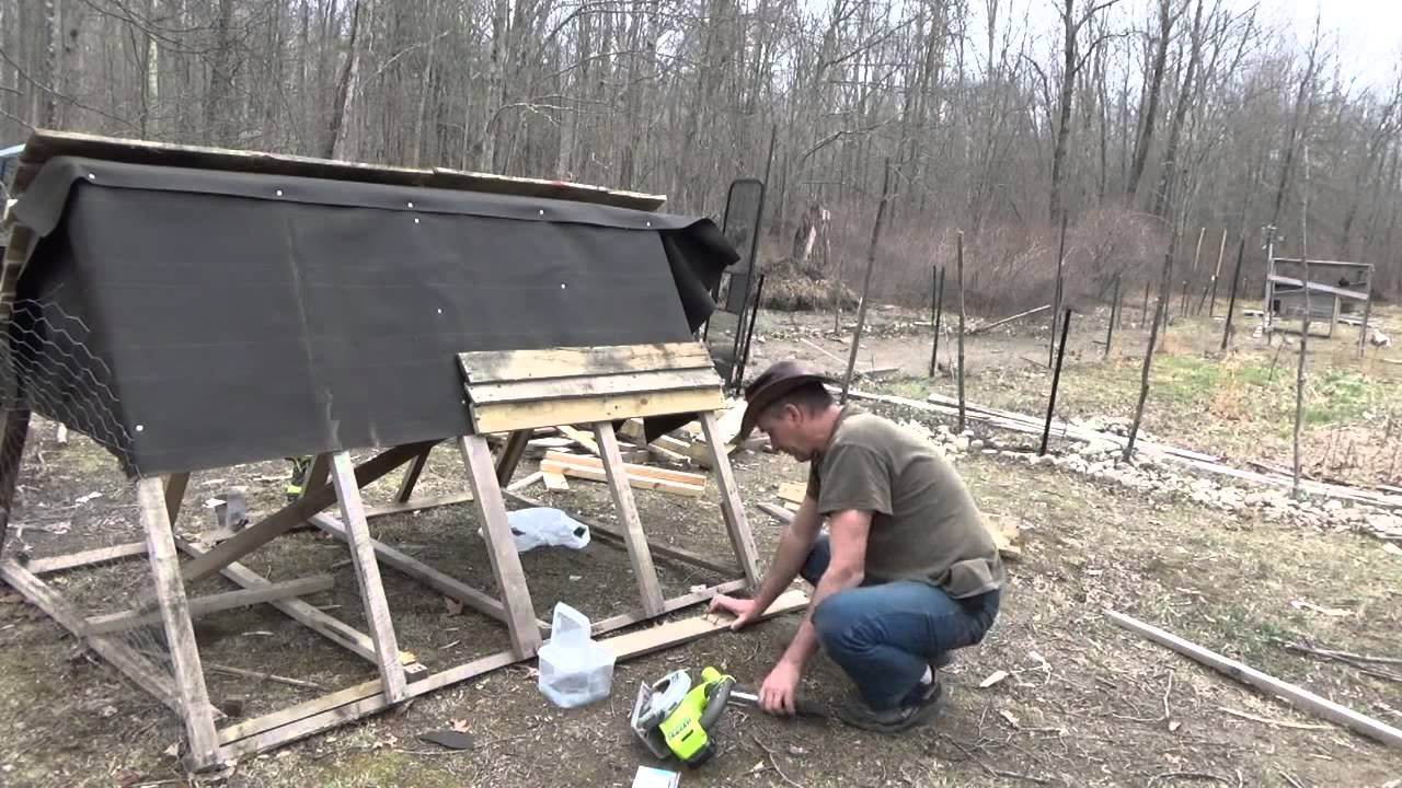 building my pallet wood a frame chicken tractor