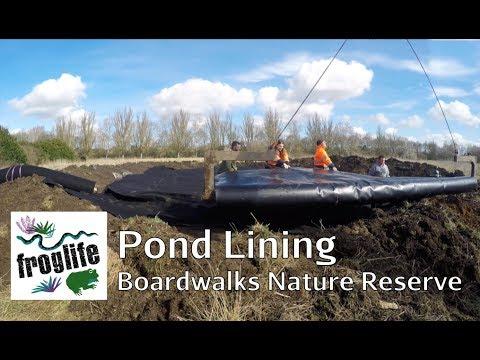 Pond Lining at Boardwalks Nature Reserve