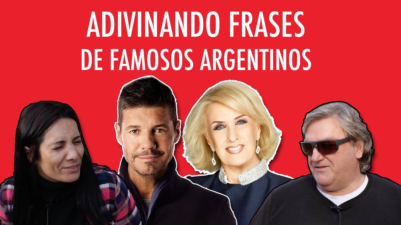Adivinando frases de famosos argentinos pilo youtube Chismes de famosos argentinos 2016